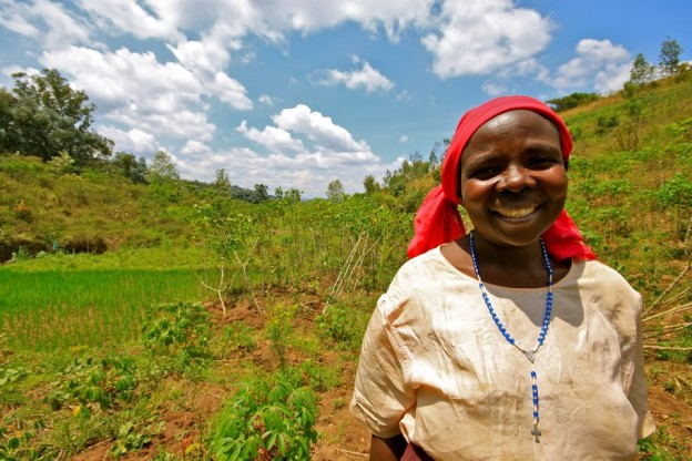 Anysia_Insured Farmer_On her farm in the southern province of Rwanda