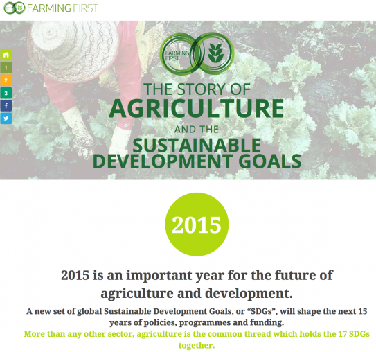 What is the story of agriculture and the Sustainable Development Goals | Farming First 2015-12-11 16-07-22