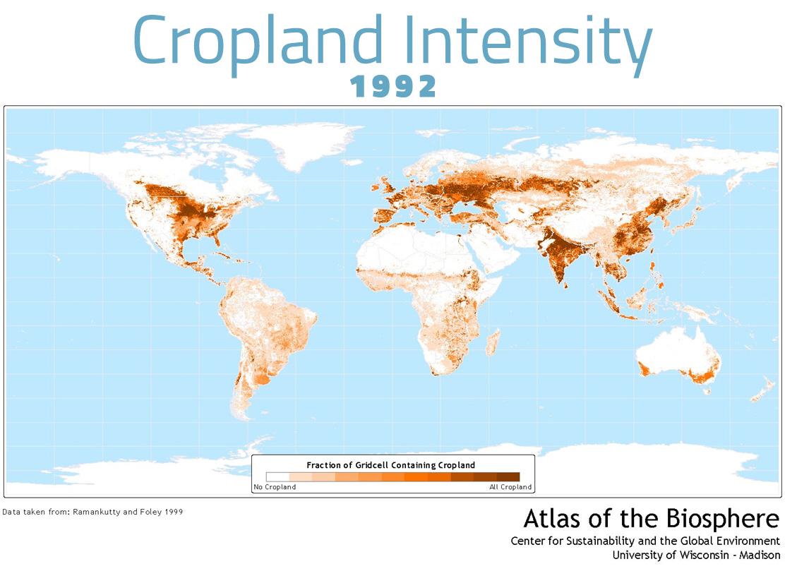 Cropland Intensity - 1992