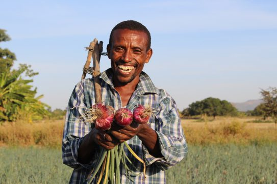 A participant in Farm Africa's climate-smart agriculture project in Ethiopia. (Farm Africa/Medhanit Gebremichael)
